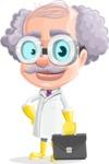 Professor Earl Crazy-Curls  - Briefcase