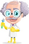Professor Earl Crazy-Curls  - Flask 1
