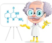 Professor Cartoon Character АКА Earl Crazy-Curls - With a Chemistry Theory