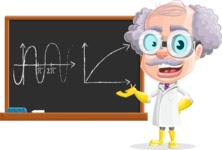 Professor Cartoon Character АКА Earl Crazy-Curls - With a Math Theory