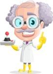 Professor Cartoon Character АКА Earl Crazy-Curls - With a Robotic Remote
