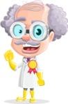 Professor Cartoon Character АКА Earl Crazy-Curls - Winning Prize
