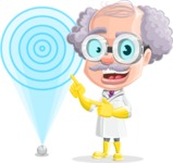 Professor Cartoon Character АКА Earl Crazy-Curls - With Target