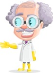 Professor Cartoon Character АКА Earl Crazy-Curls - Showing with a Smile