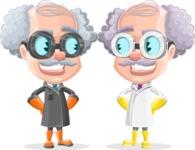 Professor Cartoon Character АКА Earl Crazy-Curls - With Created Cloning