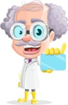Professor Cartoon Character АКА Earl Crazy-Curls - With a Futuristic Business Card