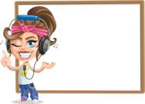 Little Female Gangster Kid Cartoon Vector Character AKA BabyB - Presentation 4