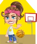 Little Female Gangster Kid Cartoon Vector Character AKA BabyB - Shape 12