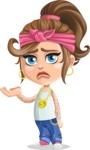 Little Female Gangster Kid Cartoon Vector Character AKA BabyB - Sorry