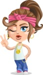 Little Female Gangster Kid Cartoon Vector Character AKA BabyB - Duckface