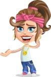 Little Female Gangster Kid Cartoon Vector Character AKA BabyB - Oops