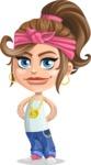 Little Female Gangster Kid Cartoon Vector Character AKA BabyB - Patient