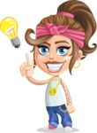 Little Female Gangster Kid Cartoon Vector Character AKA BabyB - Idea