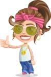 Little Female Gangster Kid Cartoon Vector Character AKA BabyB - Sunglasses 2