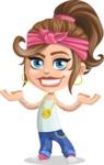 Little Female Gangster Kid Cartoon Vector Character AKA BabyB - Showcase 2