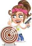 Little Female Gangster Kid Cartoon Vector Character AKA BabyB - Target