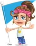 Little Female Gangster Kid Cartoon Vector Character AKA BabyB - Checkpoint