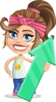Little Female Gangster Kid Cartoon Vector Character AKA BabyB - Arrow 1