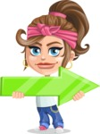 Little Female Gangster Kid Cartoon Vector Character AKA BabyB - Arrow 2
