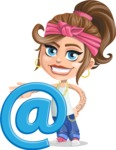 Little Female Gangster Kid Cartoon Vector Character AKA BabyB - E-mail