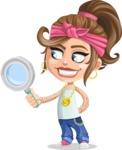 Little Female Gangster Kid Cartoon Vector Character AKA BabyB - Search