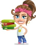 Little Female Gangster Kid Cartoon Vector Character AKA BabyB - Book 1