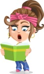 Little Female Gangster Kid Cartoon Vector Character AKA BabyB - Book 2