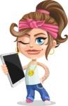 Little Female Gangster Kid Cartoon Vector Character AKA BabyB - Tablet 3