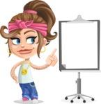 Little Female Gangster Kid Cartoon Vector Character AKA BabyB - Presentation 2