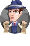 Old School Gangster with Hat Cartoon Vector Character AKA Luigi - Shape 1