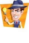 Old School Gangster with Hat Cartoon Vector Character AKA Luigi - Shape 4