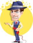 Old School Gangster with Hat Cartoon Vector Character AKA Luigi - Shape 6