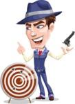Old School Gangster with Hat Cartoon Vector Character AKA Luigi - Target