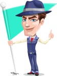 Old School Gangster with Hat Cartoon Vector Character AKA Luigi - Checkpoint
