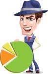 Old School Gangster with Hat Cartoon Vector Character AKA Luigi - Chart