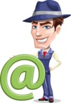 Old School Gangster with Hat Cartoon Vector Character AKA Luigi - E-mail