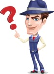 Old School Gangster with Hat Cartoon Vector Character AKA Luigi - Question