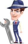 Old School Gangster with Hat Cartoon Vector Character AKA Luigi - Repair