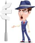 Old School Gangster with Hat Cartoon Vector Character AKA Luigi - Crossroad