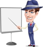 Old School Gangster with Hat Cartoon Vector Character AKA Luigi - Presentation 1