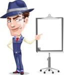 Old School Gangster with Hat Cartoon Vector Character AKA Luigi - Presentation 2