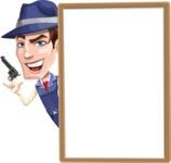 Old School Gangster with Hat Cartoon Vector Character AKA Luigi - Presentation 3