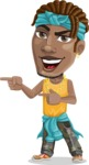 Street Gangster Cartoon Vector Character AKA Jay A - Point 2
