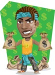 Street Gangster Cartoon Vector Character AKA Jay A - Shape 5