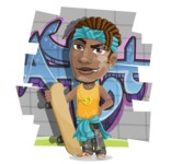 Street Gangster Cartoon Vector Character AKA Jay A - Shape 9