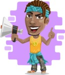 Street Gangster Cartoon Vector Character AKA Jay A - Shape 12