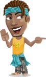 Street Gangster Cartoon Vector Character AKA Jay A - Direct Attention 2