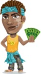 Street Gangster Cartoon Vector Character AKA Jay A - Show me the money