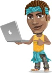 Street Gangster Cartoon Vector Character AKA Jay A - Laptop 1