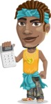 Street Gangster Cartoon Vector Character AKA Jay A - Calculator
